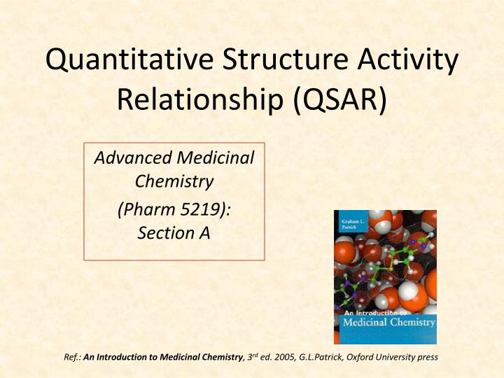 quantitative structure activity relationship qsar n.