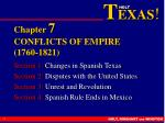 Chapter  7 CONFLICTS OF EMPIRE (1760-1821)