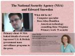 The National Security Agency (NSA) and Edward Snowden