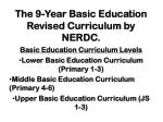 The 9-Year Basic Education Revised Curriculum by NERDC.