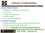 Cellular Fundamentals