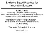 Evidence-Based Practices for Innovative Education