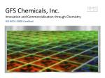 GFS Chemicals, Inc. Innovation and Commercialization through Chemistry