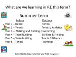 What are we learning in P.E this term?