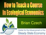 How to Teach a Course In Ecological Economics