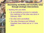 Decreasing morbidity and mortality rates through strategic interventions