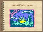 BritLit Poetry Terms