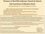 Women of Red Hill Lutheran Church & School Fall Luncheon & Ministry Event