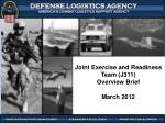 Joint Exercise and Readiness Team (J311) Overview Brief March  2012