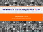 Multivariate Data Analysis with T MVA