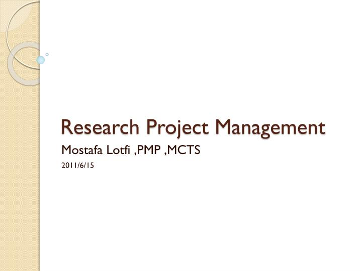 research project management n.