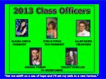 2013 Class Officers
