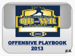 OFFENSIVE PLAYBOOK 2013