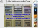 EL SCADA Components Rad Tests