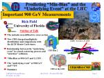 """Predicting """"Min-Bias"""" and the  """"Underlying Event"""" at the LHC"""
