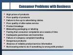 Consumer Problems with Business