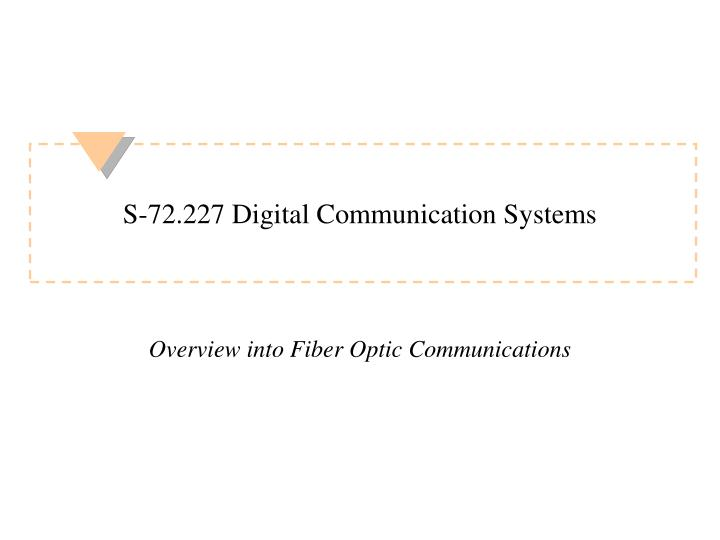 s 72 227 digital communication systems n.