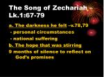 The Song of Zechariah – Lk.1:67-79
