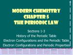Modern Chemistry Chapter 5 The Periodic Law