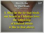 Blest Be the Tie That Binds (Verse 1)