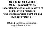 M4.A.1.2  Compare quantities and magnitudes of numbers.