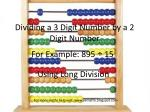 Dividing a 3 Digit Number by a 2 Digit Number