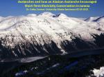 Avalanches and how an Alaskan Avalanche Encouraged Short-Term Electricity Conservation in Juneau