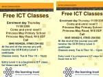 Free ICT Classes Enrolment day Thursday 11/09/2008 Come and enrol now!!!