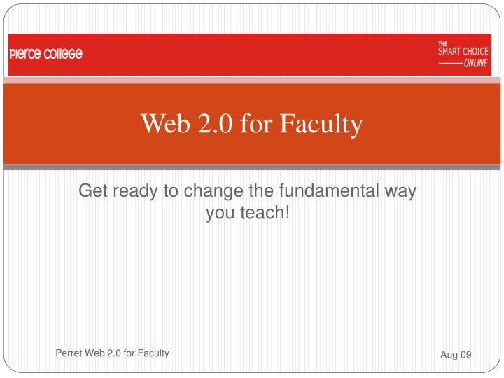 web 2 0 for faculty n.