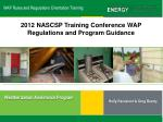 WAP Rules and Regulations Orientation Training