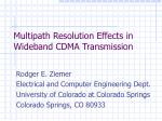 Multipath Resolution Effects in Wideband CDMA Transmission