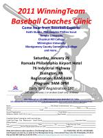 2011 WinningTeam Baseball Coaches Clinic