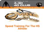 Speed Training For The HS Athlete