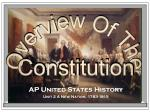 AP United States History Unit 2 A New Nation, 1783-1815