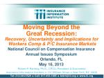 National Council on Compensation Insurance Annual Issues Symposium Orlando, FL May 16, 2013