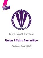 Loughborough Students' Union Candidates Pack 2014-15