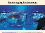 Data Integrity Fundamentals