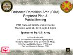 Ordnance Demolition Area (ODA) Public Meeting
