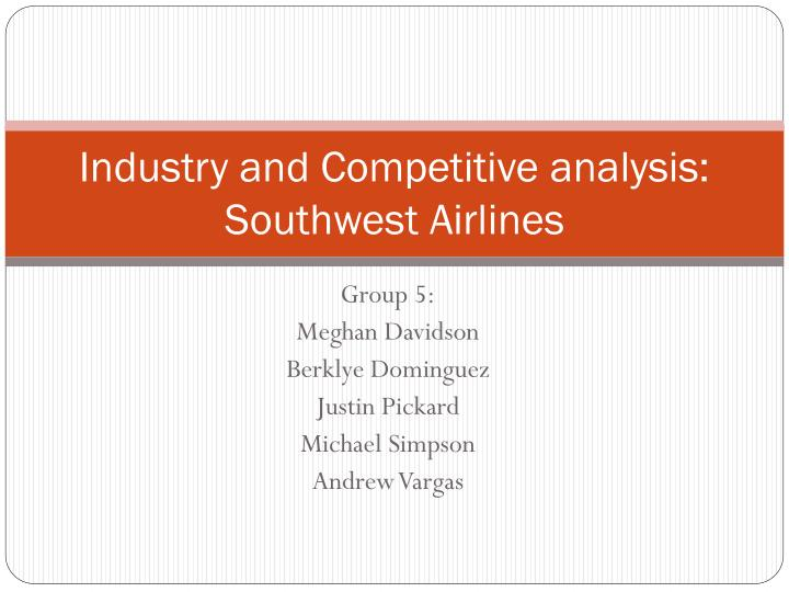 industry and competitive analysis southwest airlines n.