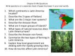 Chapter 9 HW Questions Write questions on a separate sheet of paper & answer in your own words.