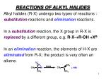 REACTIONS OF ALKYL HALIDES