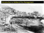 Introduction to Wildland Fire Management