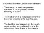 Columns and Other Compression Members