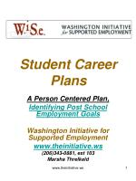 Student Career Plans
