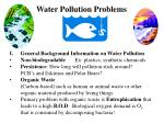 Water Pollution Problems