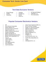 Consumer Tech. Vendor Line Card