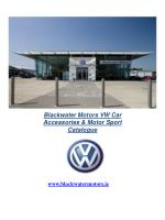 Blackwater Motors VW Car Accessories & Motor Sport Catalogue