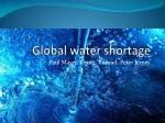 Global water shortage