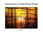 Introduction to Three-Phase Power