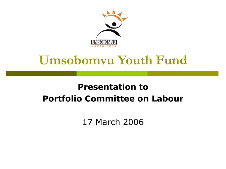 umsobomvu youth fund business plan